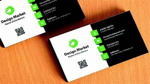 Design cool business card in photoshop black green for Really cool business cards