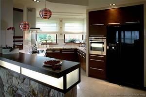 pictures of kitchens modern dark wood kitchens With small dark kitchen design ideas