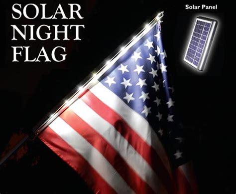 telescoping flagpole with solar light solar light flagpole and american flag