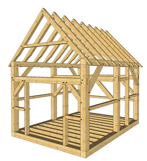 Post And Beam Shed Plans by 12x16 Post And Beam Cabin Timber Frame Hq