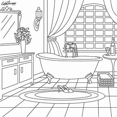 Coloring Pages Bathroom Adult Colouring Sheets Cool