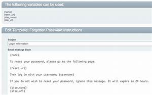 cartthrob forgot password email notification not With change password email template