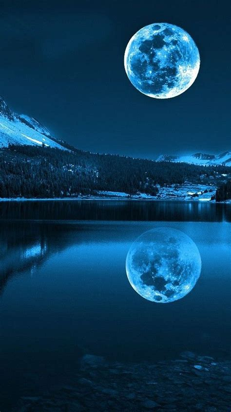 Blue Nature Wallpaper For Mobile by Free Moon Light Mobile Mobile Phone