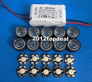 grow led len 10x 3w plant grow spectrum 380 840nm high power led lens 6 10x3w driver ebay