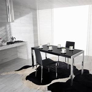 table de salle a manger extensible cable avec plateau en With meuble salle À manger avec table haute salle a manger extensible