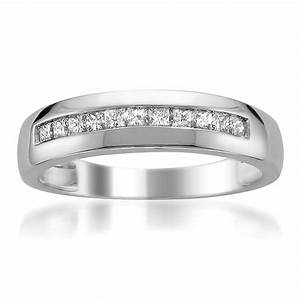 Men39s 14 karat gold and diamond wedding bands for Mens wedding rings with diamonds white gold