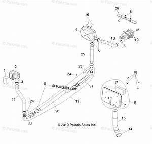 Polaris Side By Side 2012 Oem Parts Diagram For Engine  Clutch Air Intake