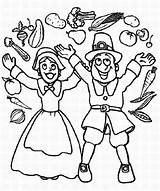Coloring Thanksgiving Parade Joyful Pilgrim Canada Cheering Couple Indian Wishbone Boy Turkey Means Its Giving Little sketch template