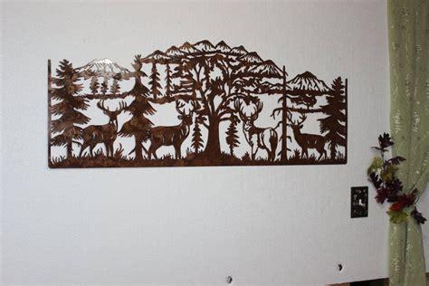 Top Of Mountain Scene Metal Wall Art