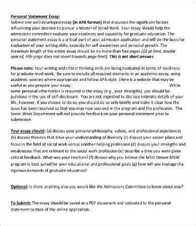 The thesis dedication is a place in where you can provide a brief but kind regards to the person or people who have been helpful in your academic journey if you've ever search for example papers online then you probably already know about the growing professional academic writing industry. Personal Essay Template - 9+ Free Word, PDF Documents Download | Free & Premium Templates