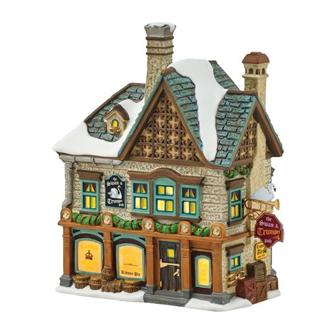 city lights collectibles department 56 4054962 swan and trumpet