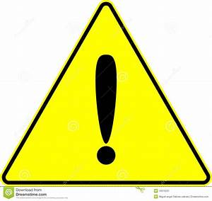 Attention Caution Exclamation Yellow Vector Sign Stock ...
