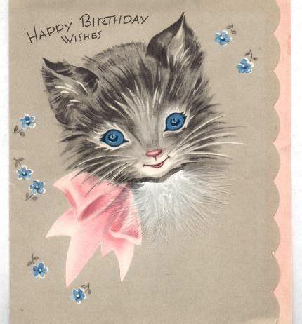 cute vintage kitty cat birthday wishes vintage birthday
