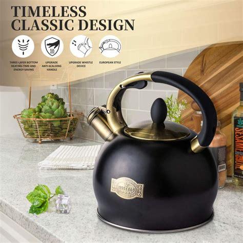 tea stainless steel whistling kettle stove teapot surgical teakettle petagadget