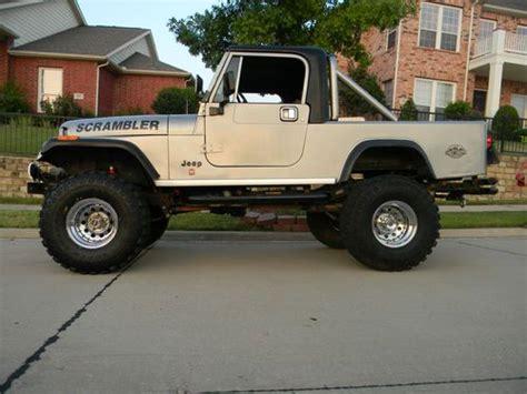 scrambler jeep years sell used 1982 jeep scrambler laredo silver black no