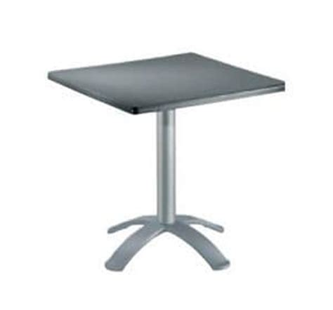 table 60x60 cuisine folding table in polymer and aluminum for external