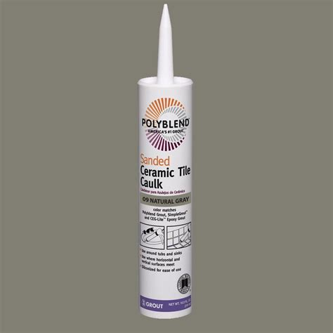 custom building products polyblend 09 gray 10 5 oz sanded ceramic tile caulk pc0910s