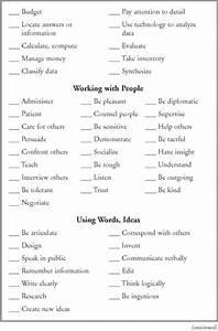 Job Skill Worksheets Identify Your Skills Identify Your Adaptive Skills And