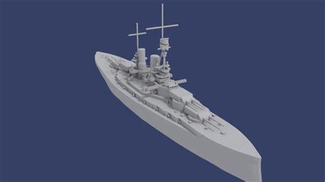 3D print model ship SMS Bayern   CGTrader
