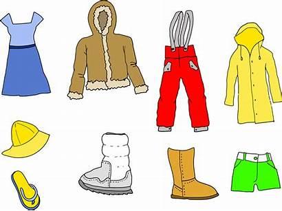 Clothing Assortment Clipart Coat Donation Line Clothes