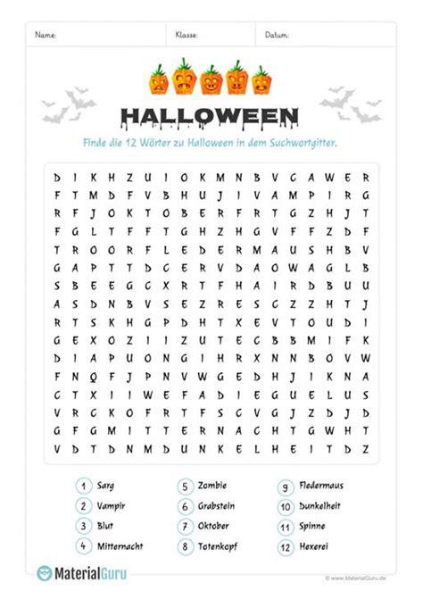 ein kostenloses arbeitsblatt zu halloween auf dem die