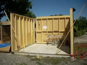 Garage Ossature Bois : garage ossature bois artisan charpente menuiserie ~ Melissatoandfro.com Idées de Décoration