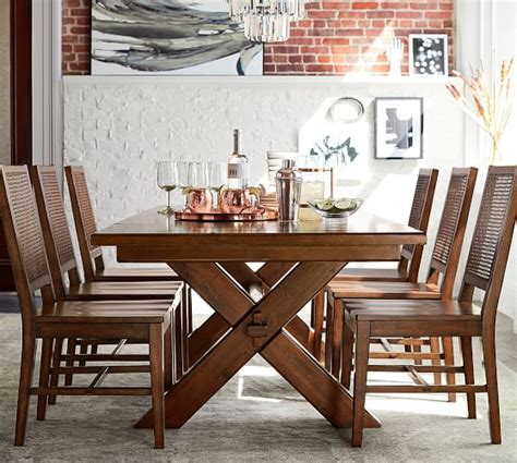 Toscana Extending Dining Table, Tuscan Chestnut  Pottery Barn