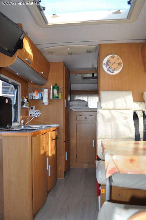 camper usato blucamp sky  su ford transit mansardato