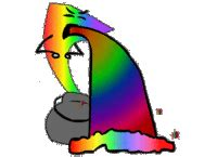 Rainbow Throw Up Meme - puking rainbows know your meme