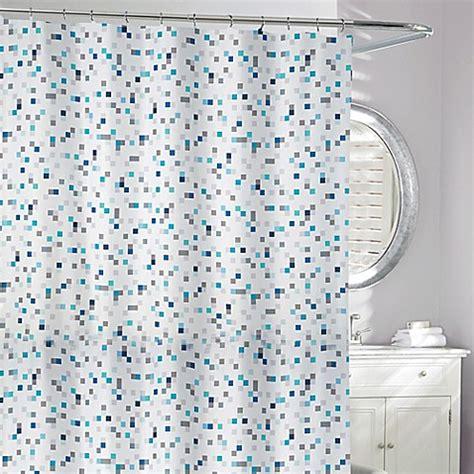 blue grey shower curtain tuttio geometric shower curtain in blue grey bed bath 4818