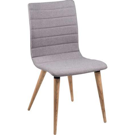 la chaise de bois chaise scandinave en tissu et bois doris 4 pieds
