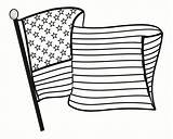 Coloring Flag sketch template