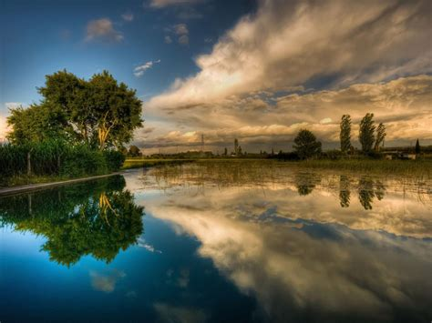 Background Lake Sky Reflecting Hd Wallpaper 15903