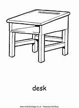 Desk Colouring Pages Coloring Activityvillage Activity Desks Village Para Colorear Colour Simple Chair Kid Dibujos Sheets Daal Durj Drawings Explore sketch template