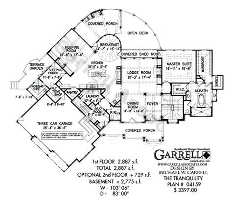 split foyer floor plans tranquility luxurious mountain house plan