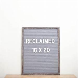 16 x 20 reclaimed wood frame grey felt letterboard rivi for Wholesale felt letter board