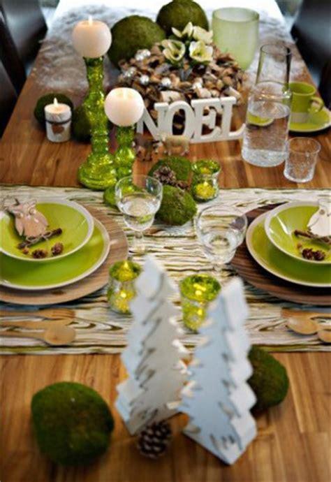 idees dambiance  de decoration de table pour noel