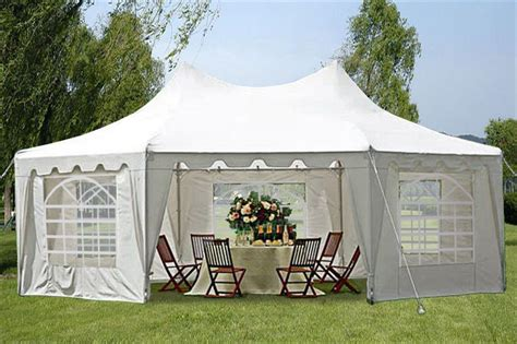 poly octagonal  white party tent deltacanopy
