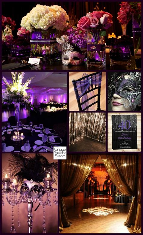 Moonlight Masquerade Ball In Black Purple And Silver