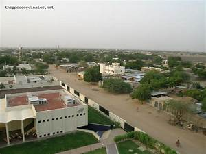 latitude and longitude GPS coordinates of N'Djamena (Chad ...
