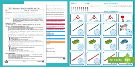 * New * Eyfs Maths Tidy And Count Group Activity Adult Input