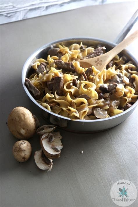 one pot beef stroganoff some of this and that