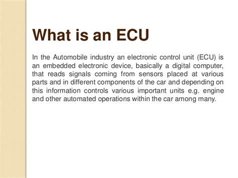 Automotive Electronics In Automobile