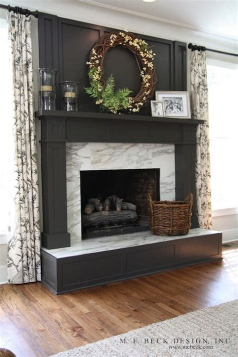 diy fireplace update with built in shelves on each gray fireplace mantel design ideas