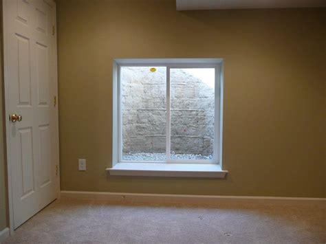 Finishing Window Sills by Egress Windows Acc Finished Basement Remodeling