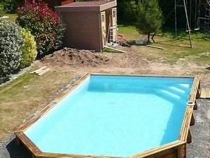 Piscine Bois Semi Enterrée : piscine bois difloisirs semi octogonale difloisirs ~ Melissatoandfro.com Idées de Décoration