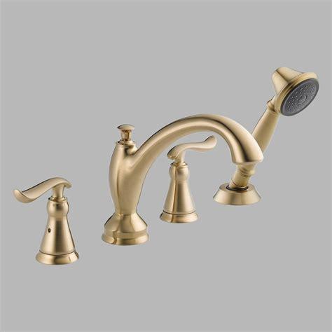 delta linden bathroom faucet delta linden t4794 deck mount tub faucet with