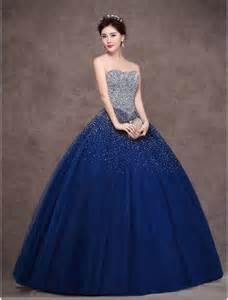 strapless sequin princess gown - Navy Sequin Bridesmaid Dress
