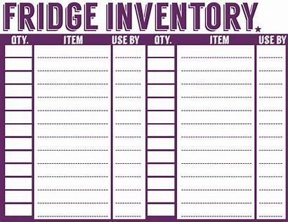 Inventory Printable Pantry Freezer Fridge Sheet Templates