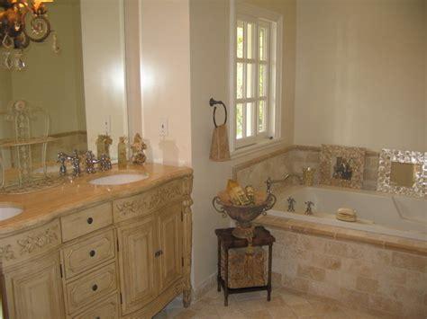 french country master bathroom classic travertinecrema